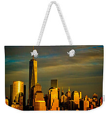 Sunset On The Financial District Weekender Tote Bag by Eleanor Abramson