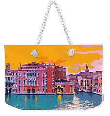 Sunset On The Grand Canal Venice Weekender Tote Bag