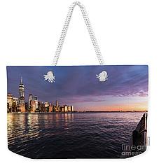 Sunset On The Hudson River Weekender Tote Bag