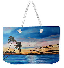 Sunset On The Island Of Siesta Key Weekender Tote Bag