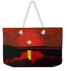 Sunset On The Lake Weekender Tote Bag by Donald J Ryker III