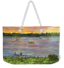 Sunset On The Merrimac River Weekender Tote Bag