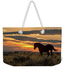 Sunset On The Mustang Weekender Tote Bag