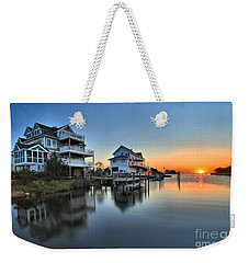 Sunset On The Obx Sound Weekender Tote Bag