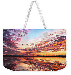 Sunset On The Pacific Flyway Weekender Tote Bag