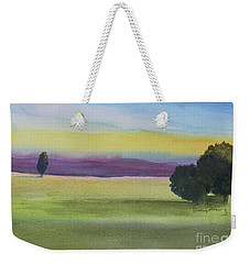 Sunset On The Plain Weekender Tote Bag