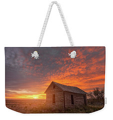 Weekender Tote Bag featuring the photograph Sunset On The Prairie  by Darren White