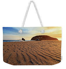 Weekender Tote Bag featuring the photograph Sunset On The Sands Of Brookings by James Eddy