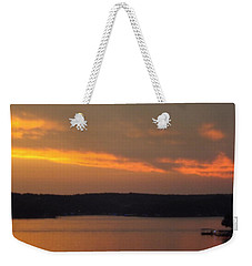 Weekender Tote Bag featuring the photograph Sunset On The Shore 2 by Don Koester