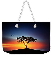 Sunset On The Tree Weekender Tote Bag