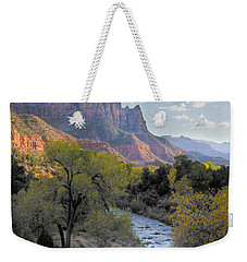 Sunset On The Watchman Weekender Tote Bag