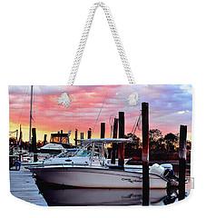 Sunset On The Water Weekender Tote Bag