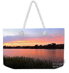 Sunset On The Waterway Weekender Tote Bag