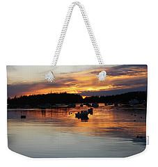 Sunset On Vinalhaven Maine Weekender Tote Bag
