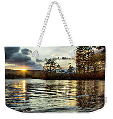 Sunset On Webster Lake  Weekender Tote Bag