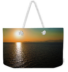Sunset Over Aegean Sea Weekender Tote Bag