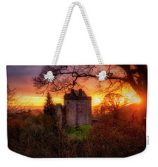 Weekender Tote Bag featuring the photograph Sunset Over Castle Campbell In Scotland by Jeremy Lavender Photography