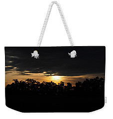 Sunset Over Farm And Trees - Silhouette View  Weekender Tote Bag