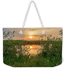 Sunset Over Fiddlers Lake Weekender Tote Bag