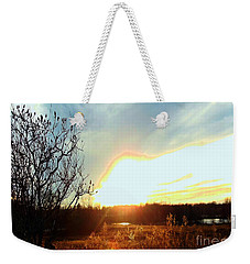 Sunset Over Fields Weekender Tote Bag