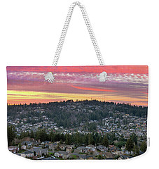 Sunset Over Happy Valley Residential Neighborhood Weekender Tote Bag