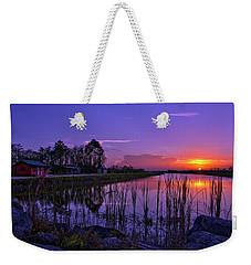 Sunset Over Hungryland Wildlife Management Area Weekender Tote Bag