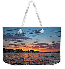 Sunset Over Huntington Harbour Weekender Tote Bag