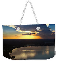 Sunset Over Lake Weekender Tote Bag by Carolyn Marshall