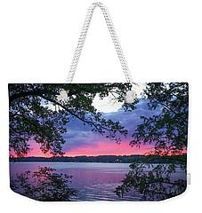 Sunset Over Lake Cherokee Weekender Tote Bag