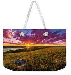 Sunset Over Lake Oahe Weekender Tote Bag