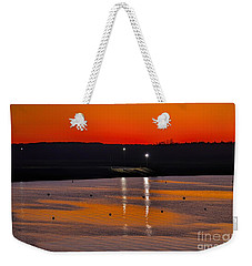 Weekender Tote Bag featuring the photograph Sunset Over Lake Texoma by Diana Mary Sharpton