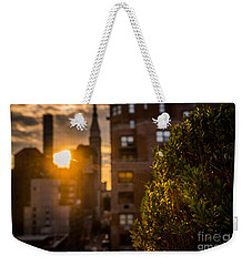 Sunset Over Manhattan New York City Weekender Tote Bag
