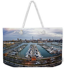 Sunset Over Marina Weekender Tote Bag by Eduard Moldoveanu