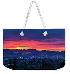Sunset Over Marquam Hill Weekender Tote Bag