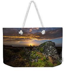 Sunset Over Marsh Weekender Tote Bag by Joe Belanger