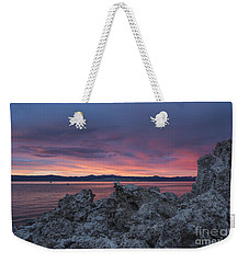 Weekender Tote Bag featuring the photograph Sunset Over Mono Lake by Sandra Bronstein