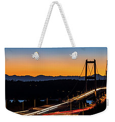 Sunset Over Narrrows Bridge Panorama Weekender Tote Bag by Rob Green
