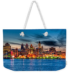 Sunset Over Philadelphia Weekender Tote Bag