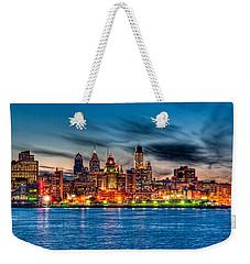 Sunset Over Philadelphia Weekender Tote Bag by Louis Dallara