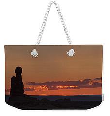 Sunset Over Rock Formation Weekender Tote Bag