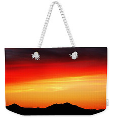 Sunset Over Santa Fe Mountains Weekender Tote Bag by Joseph Frank Baraba