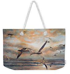 Sunset Over The Sea Weekender Tote Bag by Vali Irina Ciobanu