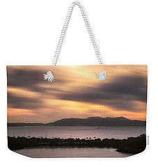 Weekender Tote Bag featuring the photograph Sunset Over St. John And St. Thomas Panoramic by Adam Romanowicz