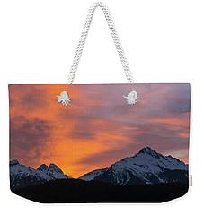 Sunset Over Tantalus Range Panorama Weekender Tote Bag