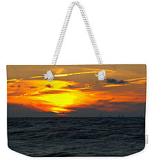 Sunset Over The City Weekender Tote Bag
