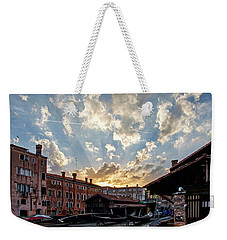 Sunset Over The Gondola Shop In Venice Weekender Tote Bag