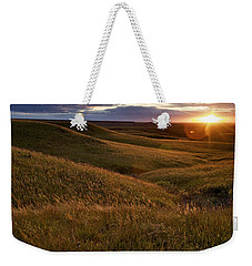 Sunset Over The Kansas Prairie Weekender Tote Bag