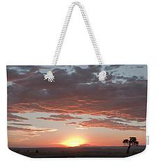 Sunset Over The Mara Weekender Tote Bag