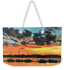 Sunset Over The Marina Weekender Tote Bag