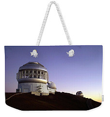 Sunset Over The Mauna Kea Observatories On Kona Weekender Tote Bag by Amy McDaniel